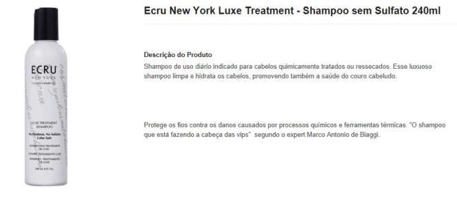 ecru new york luxe treatment