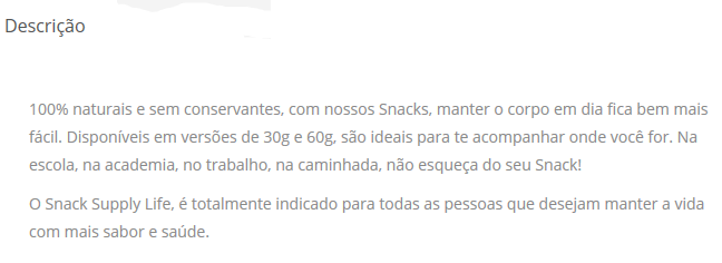 snack proteico supply life resenha